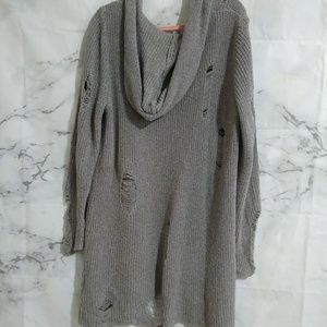 H&M Distressed Knit Cardigan
